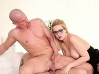 Assfucking studs getting blowjob by spex babe