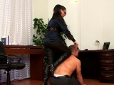 Hard fetish act with a babe getting sexy arse whipped