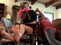 Perverted MILF in kinky foot fetish and anal action