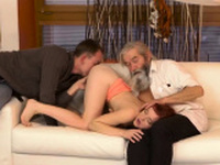 Daddy shares xxx Unexpected practice with an older
