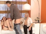 Mature strap on hd Unexpected practice with an older