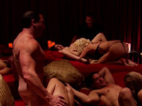 Swingers fuck hard in private after enjoying the orgy