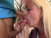 Small tits blonde granny gets her shaggy cunt filled
