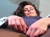 Gal in taut pantyhose knows that babe looks doggy style