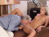 VIP4K. Old man is happy to enjoy tender body of young
