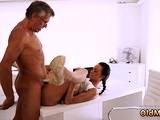 Old skinny mature Finally shes got her manager dick