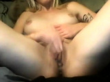 Sexy babe solo pussy fingering and spreading in close up