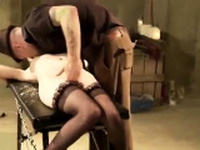 Hot bride in stockings bdsm pussy fingering and blowjobs