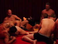 Amateur swingers play some sexual games.