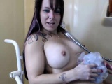 Big boobs beauty take shower on cam